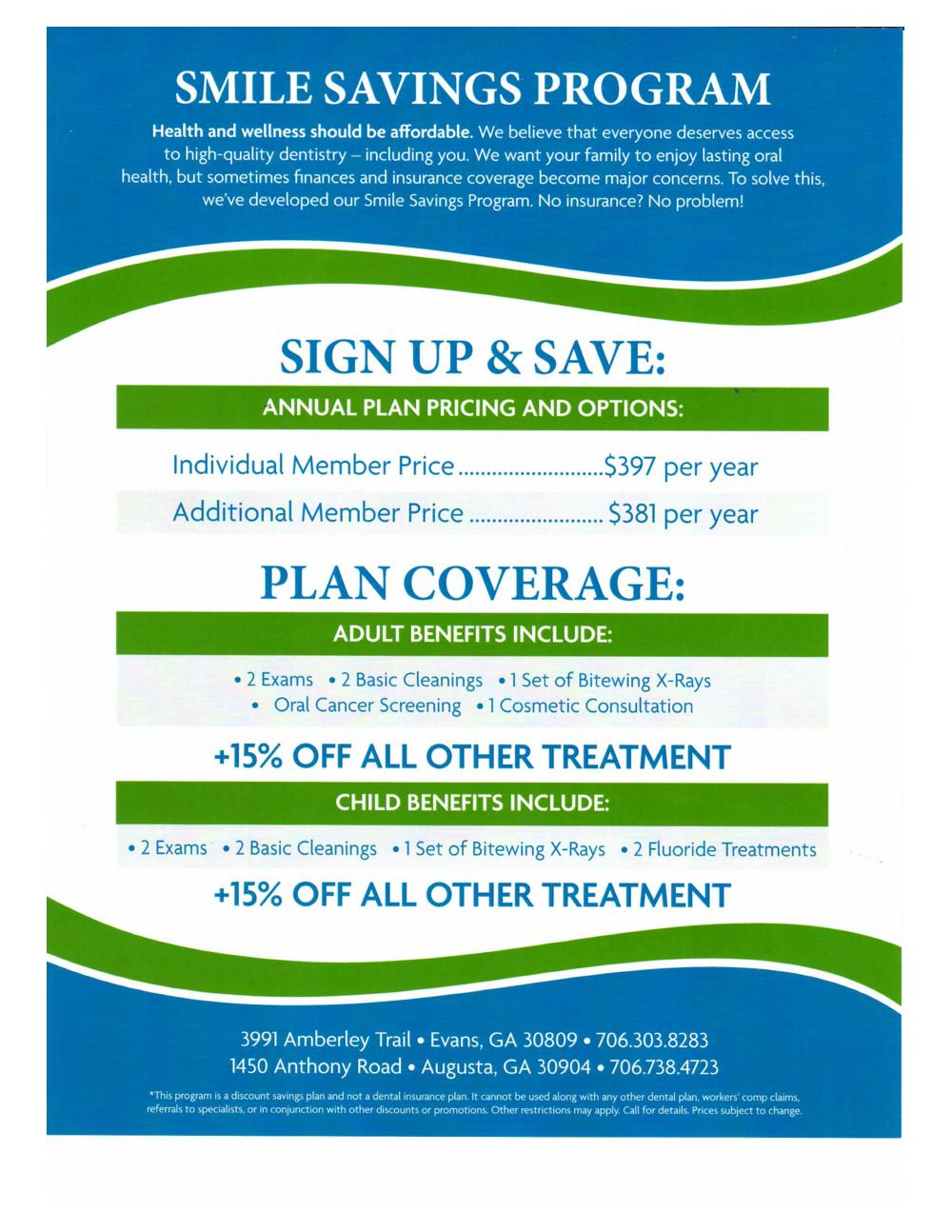 Dental Insurance Plans Ga / Family Individual Dental ...